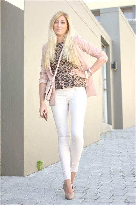 light pink blazer light pink h m blazers quot leopard peplum pastel quot by