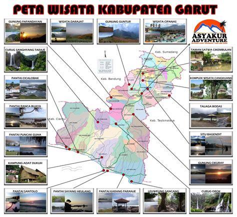 peta lengkap indonesia peta wisata kabupaten garut