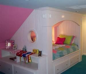 Lit Blanc Fille : lit d 39 enfant avec tiroirs la beaut et l 39 optimisation de l 39 espace ~ Teatrodelosmanantiales.com Idées de Décoration