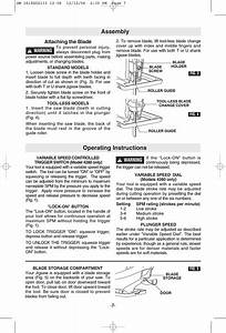 Assembly  Operating Instructions  Attaching The Blad
