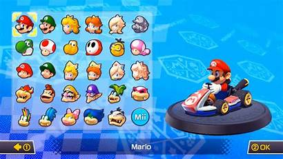 Mario Characters Kart Pink Gold Mii Peach