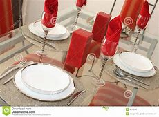 Elegant Dining Table Setting Stock Images Image 4218274
