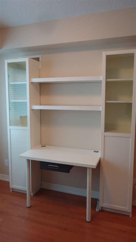 make a desk out of bookshelves creating a custom desk unit small space style