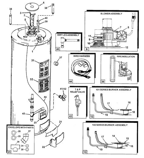 electric water heater parts diagram automotive parts