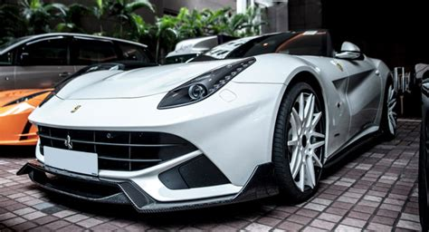 When released, ferrari called it the fastest ferrari ever built and cited a lap time around fiorano of 1'23. DMC Showcases White Ferrari F12berlinetta SPIA from Hong Kong   Carscoops