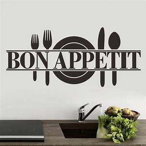 Bon appetitkitchen restaurant quote wall sticker decal uk for What kind of paint to use on kitchen cabinets for wall sticker posters