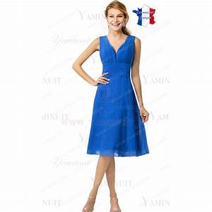 robe de ceremonie courte bleu roi lacet dos alizon robe de With robe ceremonie bleu roi