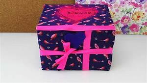 Aufbewahrungsbox Selber Machen : aufbewahrungsbox f r kosmetik oder als geschenk box selber gestalten mit stoff ~ Markanthonyermac.com Haus und Dekorationen