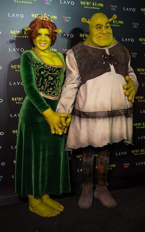 heidi klum tom kaulitz dressed   princess fiona