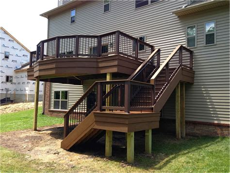 beautiful deck designs walkout basement deck