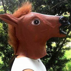 Halloween Costume Prop Funny Horse Head Mask Party Mask ...