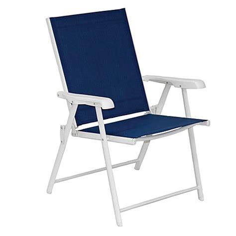 blue sling folding chair set   bed bath