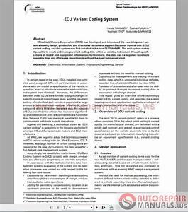 Mitsubishi Ecu Variant Coding System