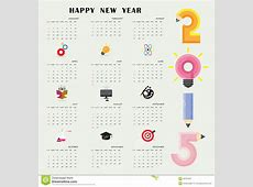Creative Calendar 2015 Design Template With Business Or