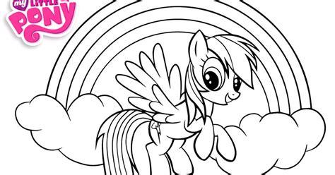 gambar mewarnai kuda poni rainbow dash kumpulan gambar bagus