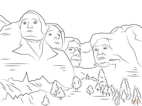 mount rushmore coloring page  printable coloring pages coloring pages  printable