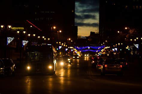 Photography, Buses, Bokeh, Building, Street Light, Road