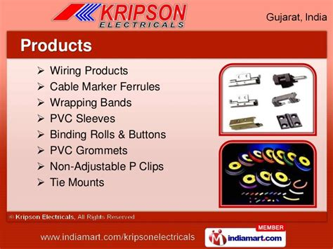 Wiring Accessories Kripson Electricals Ahmedabad