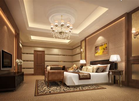 3d Luxurious Hotel Bed Room Cgtrader