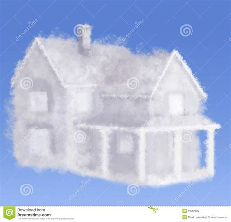 cloud dream house stock image image  high construction