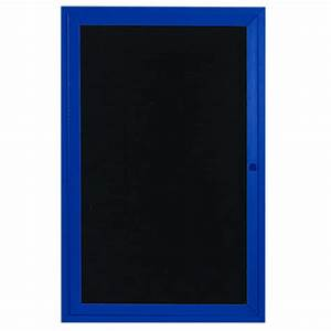 aarco adc2418ib 24quot x 18quot enclosed hinged locking 1 door With lighted letter board