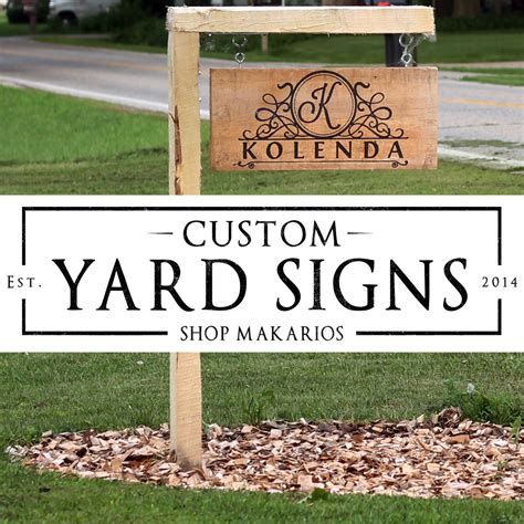 Custom Backyard Signs outdoor address sign custom yard sign custom home by