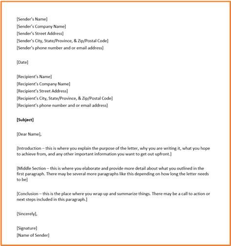 letter format template sanjonmotel