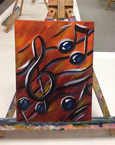 Music Notes 9x12 Acrylic Painting Perfect Painting for Music