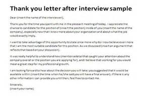 thank you letter after interview sample 2