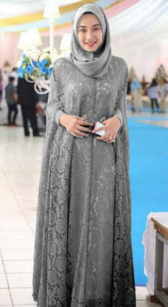 model baju batik dress panjang muslim modern