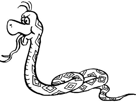 Coloring Pages Of Snakes  Printable Coloring Sheet Anbu