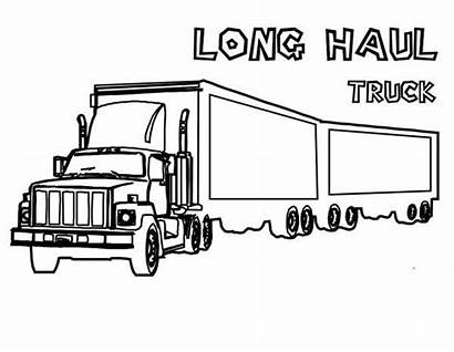 Semi Coloring Truck Haul Tractor Extra Pages