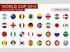 World Cup 2018, all qualified teams Stock Vector