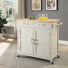 Usl Macie Polar White Small Kitchen Cartsk19250a1pw