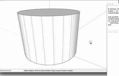 Divide Cylinder Faces Sketchup Curve Lines Into