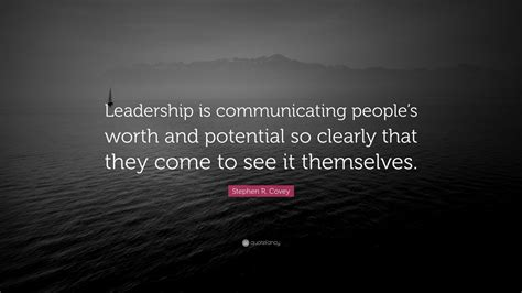 stephen  covey quote leadership  communicating