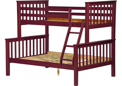 palace imports mission mahogany wood twin  full bunk