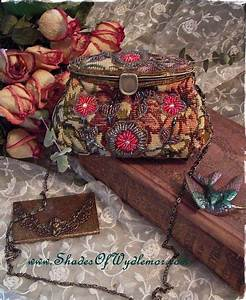 Floral, Tapestry, Hand, Beaded, Bag, Vintage, Style, 39, 99