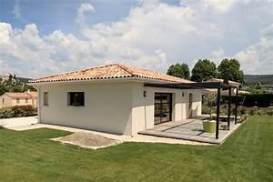 Maison Plain Pied En L : construction maison contemporaine plain pied comtat ~ Melissatoandfro.com Idées de Décoration
