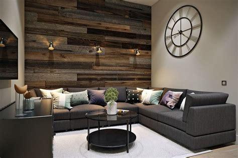 Wohnzimmer Design Wandgestaltung by Wandverkleidung In Altholzoptik Und Wandleuchten Living