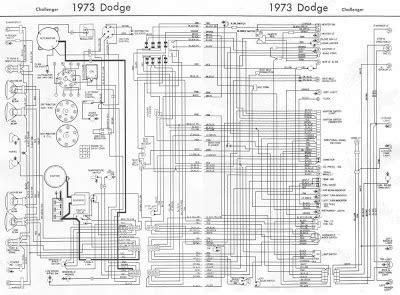 Wiring Diagram Dodge Challenger Srt8 by Dodge Challenger 1973 Complete Wiring Diagram All About