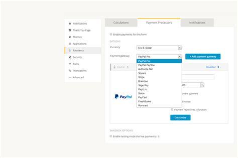 paypal order forms builder 123formbuilder ex
