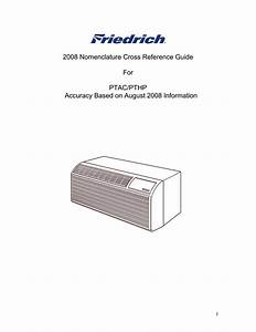 Friedrich Pde07k3sg Ptac Model Number Explanation