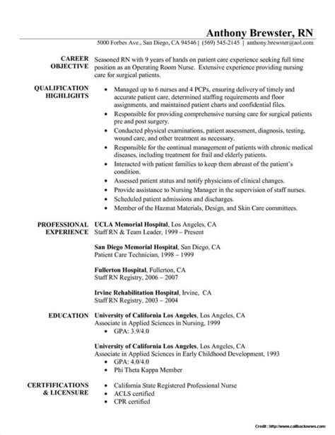 Registered Resume Template by Curriculum Vitae Registered Sle Resume Resume
