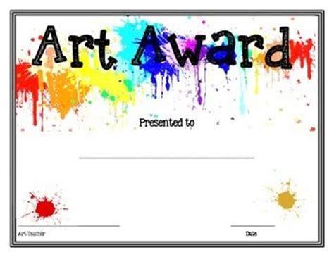 art shop art award printable