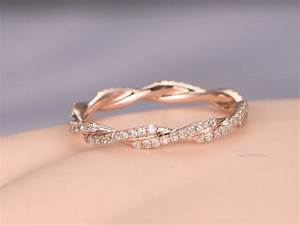 twisted shapediamond wedding band 14k rose goldfull With twisted engagement ring with wedding band