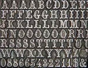 movable type renaissance outfitters With printing block letters for sale