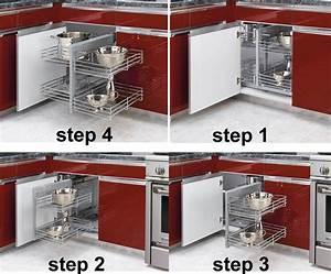 Lovely, Corner, Cabinet, Organizer, 4, Blind, Corner, Kitchen, Cabinet, Organizers