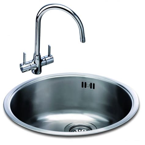 Undermount Sinks With Drainer by Carron Phoenix Carisma 400 Round Bowl Kitchen Sinks Taps