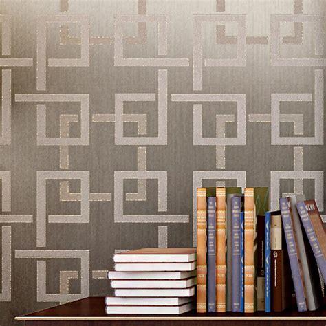 glitter wallpaper plaid flocking  woven modern chinese
